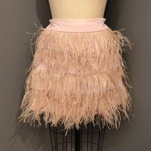 Club Monaco Ostrich Feather Skirt